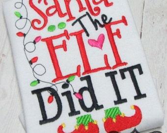 Christmas shirt, Girls Christmas shirt, Boys Christmas shirt, Christmas saying shirt, Elf christmas shirt