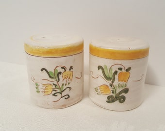 Stangl Yellow Tulip Salt and Pepper Shakers #3637