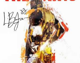 LeBron James Poster Cavaliers 23 King Color Print African American History (18x24)