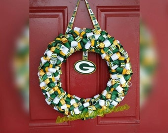 Show your pride with a GREEN BAY PACKERS wreath.