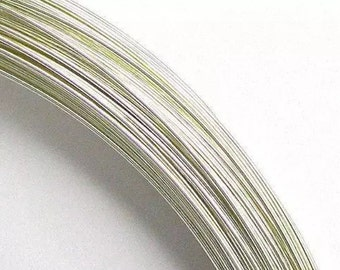 5 Feet 1/10 Sterling Silver Fill Wire 28g Dead Soft 0.5mm Bright White 925 Fine Precious Metal (ID Db sfw-rd-hh-05MX5FT)