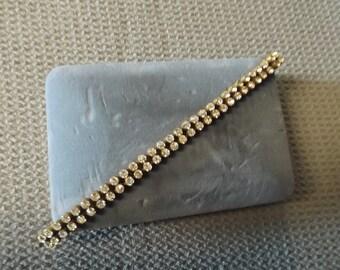2 Strand Vintage 40's Rhinestone bracelet