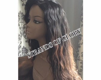 Balayage Ombre Lace Closure Wig - Remy Cambodian Hair