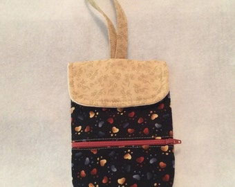 phone pouch with wrist strap