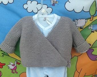 Bra vest wrap birth knitting