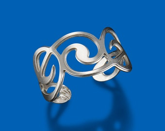 Clef Sterling Silver Ring by Shira Jewelry USA