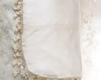 Mexican Zapotec Handwoven Bedspread / Ethnic Blanket / Mexican Blanket
