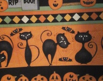 Debbie Mumm Halloween Fabric 2 Yards Cotton