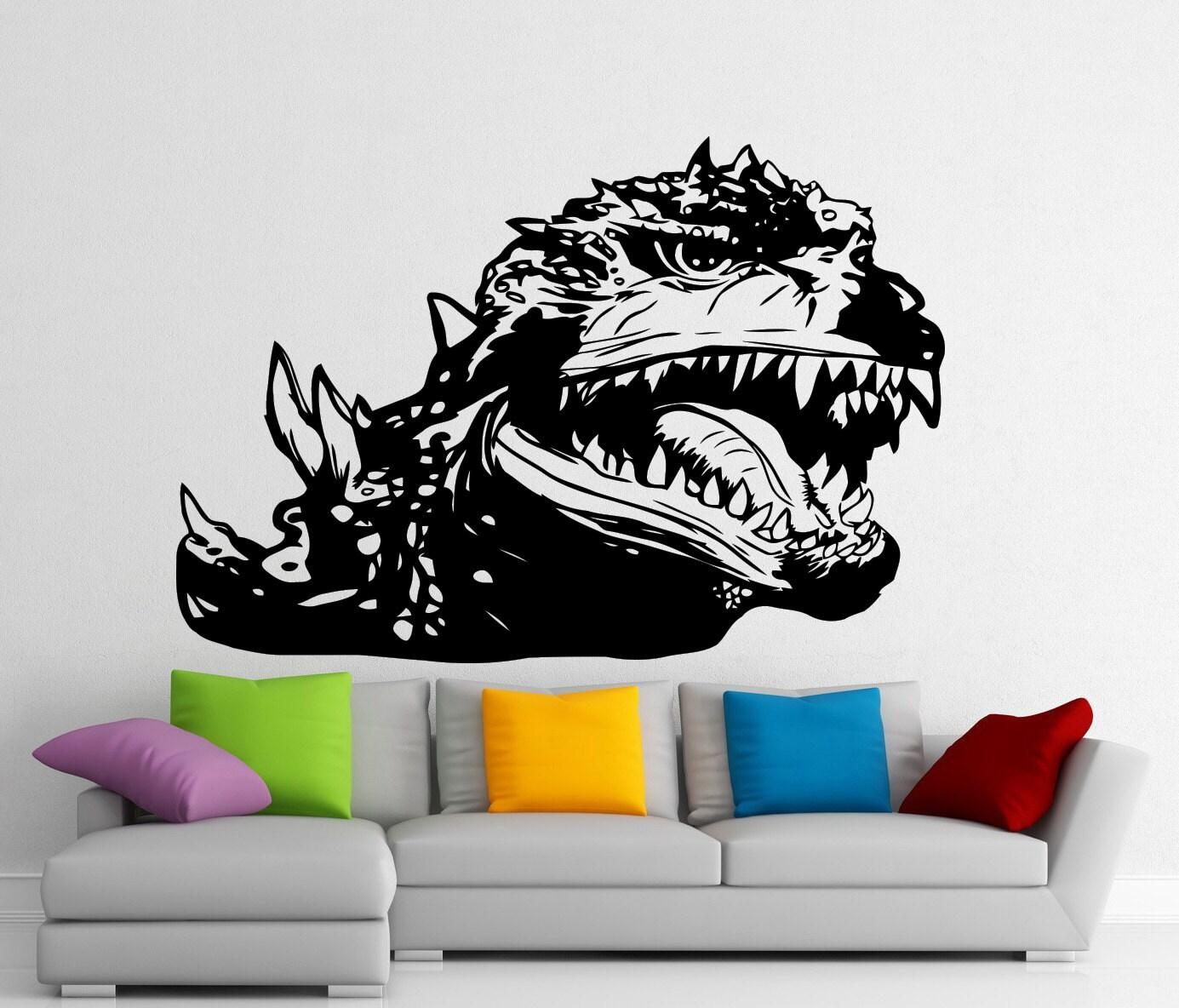 godzilla sticker monster wall vinyl decal home kids room zoom