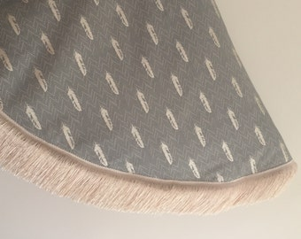 85cm baby play mat chevron feather