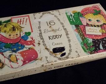 Brooklyn Art Pub. Co Vintage Christmas Cards w/Envelopes Brookline Designs by BAPCO