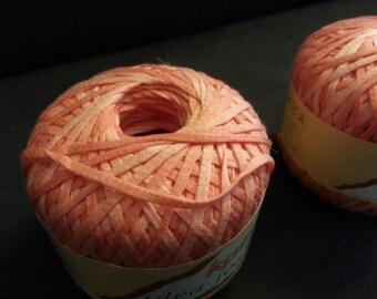 Katia Idea Jeans - 2602 Orange Yarn, Bundle of 2, 170 Yards Total