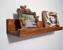 Floating Picture Ledge, Pine Wall Bookshelf, Rustic Photo Ledge, Wood Spice Shelf, Children's wall book shelf, Nursery Shelf, Book Ledge