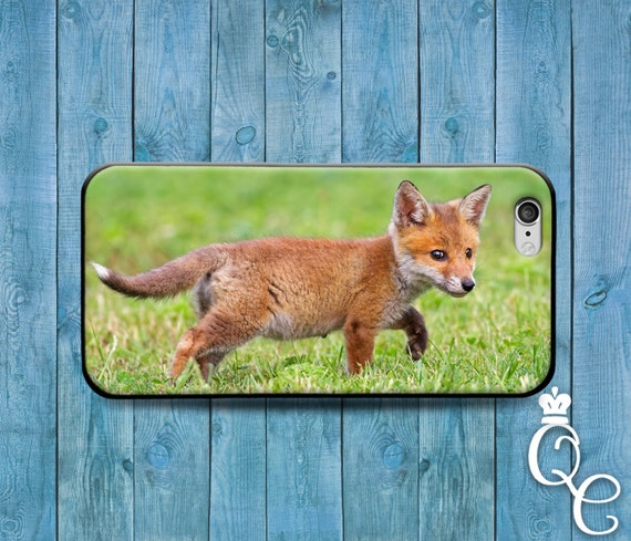 iPhone 4 4s 5 5s 5c SE 6 6s 7 plus iPod Touch 4th 5th 6th Generation Cute Animal Cover Cool Baby Fox Custom Girl Boy Funny Fun Phone Case +