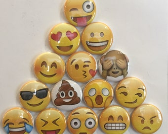 Emoji Magnets - set of 15