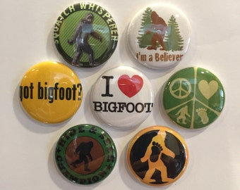 Bigfoot Magnets - set of 7