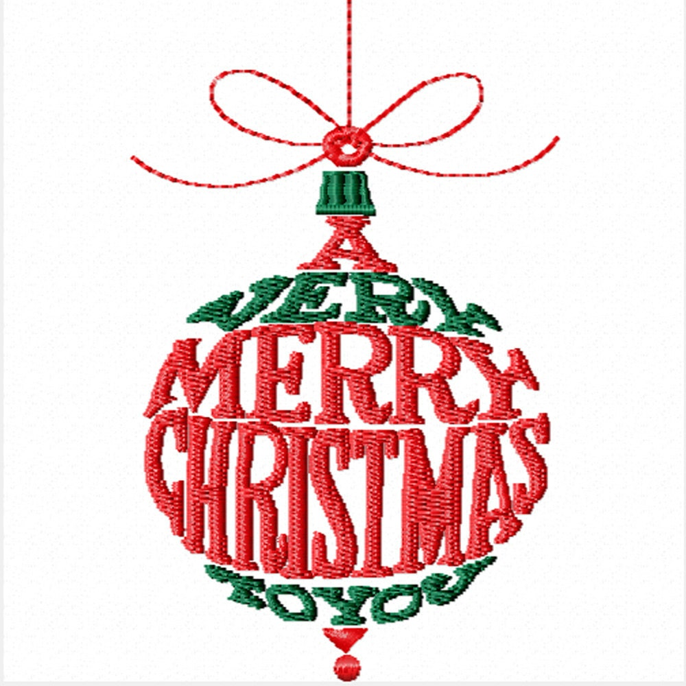 A very merry christmas to you machine embroidery