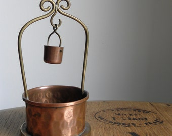 Vintage Doll House French Copper Well