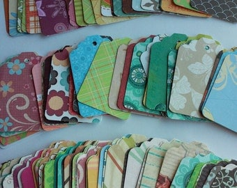 Variety gift tags, Bulk gift tags, Scrapbooking tags, Price tags, Gift tag assortment, Set of 35 or 100