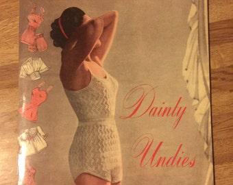 Dainty Undies // Weldons practical needle work patterns