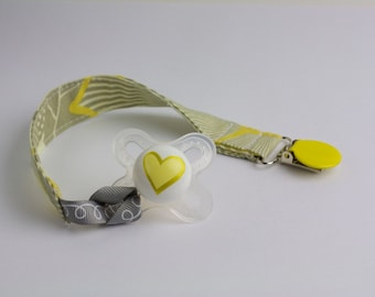 Yellow Pacifier Clip