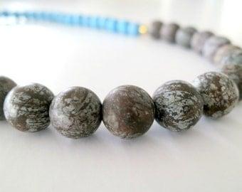 Jasper necklace, Jasper stone, Jasper jewelery, natural stone necklace, natural necklace,