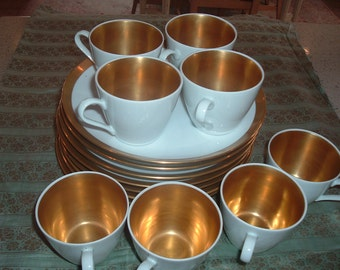 Vintage Gold Luncheon Set