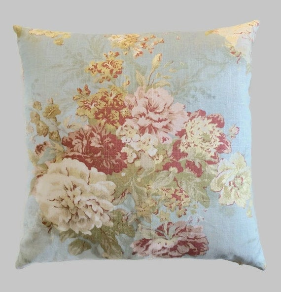 Shabby Chic Pillows Etsy : Shabby Chic Pillow French Country Cottage Robin s Egg