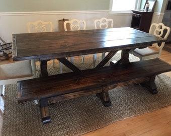 Custom made farm table 6'