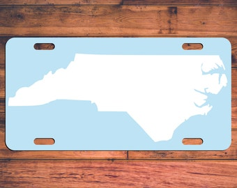 North Carolina Custom Designed License Plate NC Car Tag Monogrammed Tag Customized Car Plate Personalized Gifts - Customize your own!