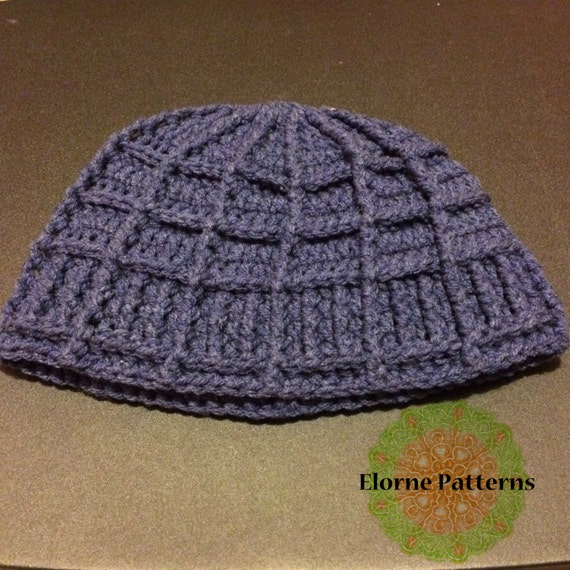 Crochet Beanie Pattern Ribbed : CROCHET PATTERN Crochet Ribbed Box Beanie Pattern
