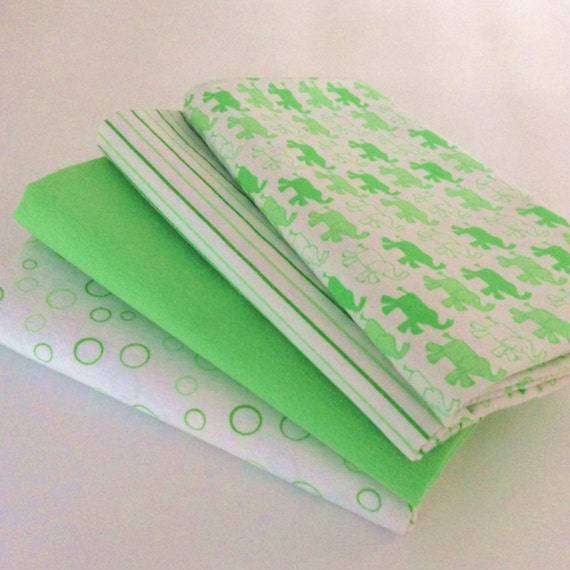 Lime Green Baby Wrap, Blanket, Swaddle 100 cm x 120 cm, Soft 100% Cotton