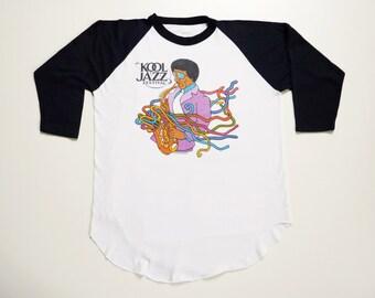 Vintage 80's Music Tee-Shirt Saxophone Player Kool Jazz Festival 1982