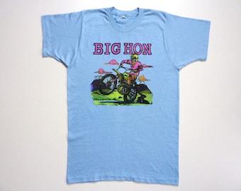 Vintage 70's Tee-Shirt Psychedelic Honda Dirt Bike