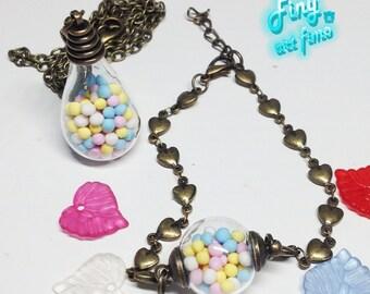 Bronze bracelet necklace