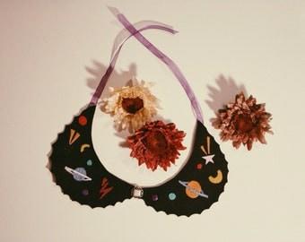 Space craft handmade peter pan collar