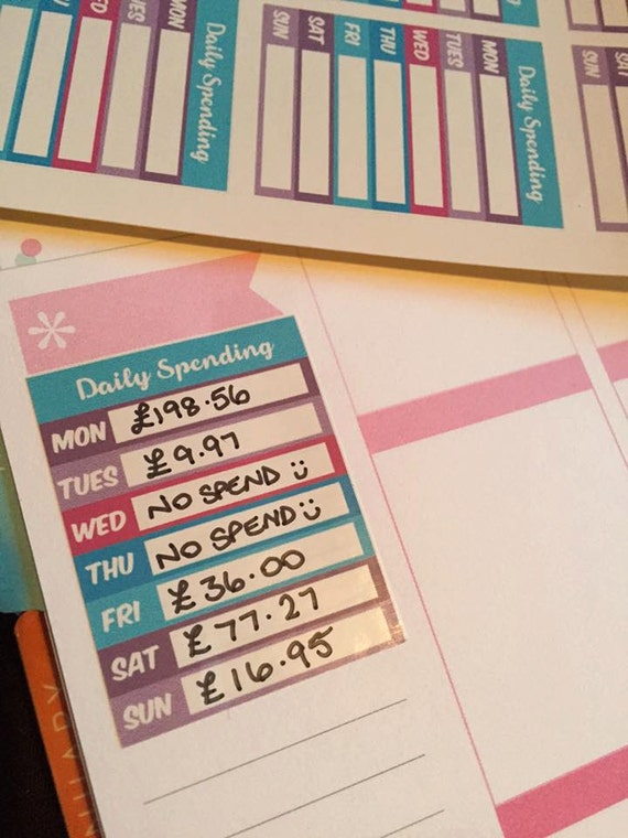 Teen budget planner