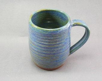 Pottery Coffee Mug Rutile Blue CHUN29
