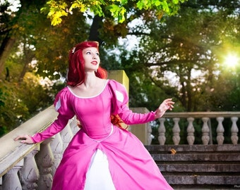 SALE Disney cosplay costume Ariel Little Mermaid Disney Princesses pink dress adult Size Extra Small In Stock READY to SHIP and Custom Order