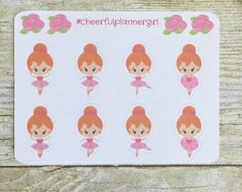 Ballerina Dancers Set 4 Small Sampler Planner Stickers