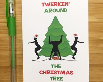 Christmas Cards, Funny Christmas Cards, Holiday Cards, Funny Holiday Cards, Christmas Tree, Santa Claus, Xmas Greeting Cards, Twerking,