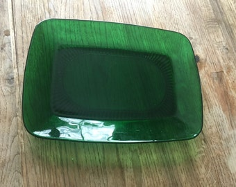 Green Art Deco Style Platter