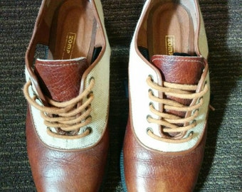 2 tone Oxford shoes