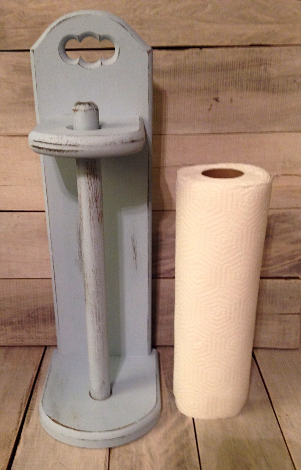 Wood Paper Towel Holder Bathroom Tissue Paper Holder