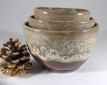 Wheel-Thrown Nesting Bowl, Prep Bowl Set - Discounted