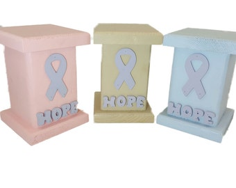 Hope Column Stand for Fighting Cancer