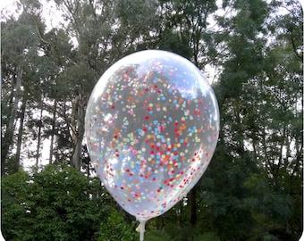 Confetti Balloons - 28cm Mini Circles (Choose Your Confetti Colours!)