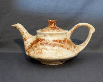 Vintage Alaska Clay Teapot, Brown Alaska Teapot