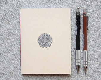 Japanese chrysanthemum Small blank kraft notebook
