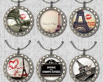 Wine Glass Charm, Paris Wine Charm, France Wine Charm, Wine Charm, Glass Charm, Gift, Wine Lover Wine Charm Gift, Paris, France,